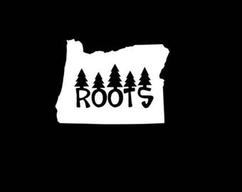 Oregon Roots Vinyl Decal, Oregon State, Oregon Decal, Oregon Sticker, Car Decal, Bumper Sticker, Laptop Decal, Tumbler Decal