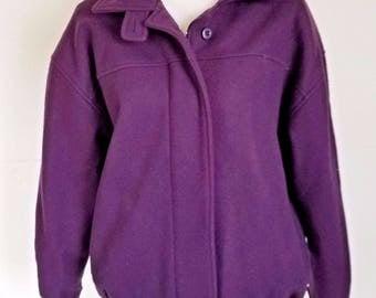 Vintage Woolrich Womens Purple Wool Coat Jacket Small