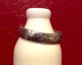 Bracelet / Vintage / Silver plated / Costume Jewelry