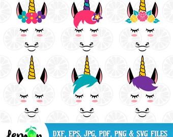 Unicorn Monogram, Unicorn SVG, Magic Party, Unicorn Party, Unicorn Head, Instant Download, Unicorns 37