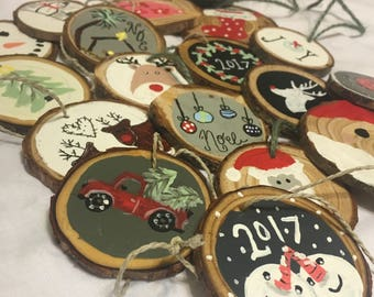 Wood Slice, Wood Chip, Christmas Ornaments, Christmas Decorations, Teacher Gifts