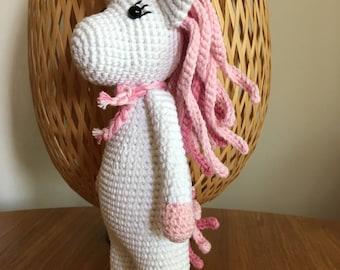 Crochet Unicorn, Amigurumi Handmade Toy, Handmade Unicorn Crocheted Soft Toy, Baby Shower Gift, Nursery Decoration, Unicorn Soft Toy