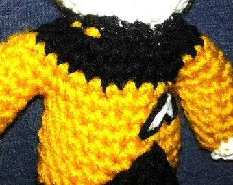 Star Trek amigurumi Data, Star Trek TNG amigurumi, Data from Star Trek, Star Trek crochet
