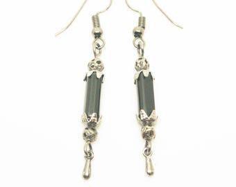 Black Antique Patina Drop Earrings