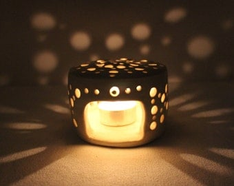 Cream Tealight Candle Holder