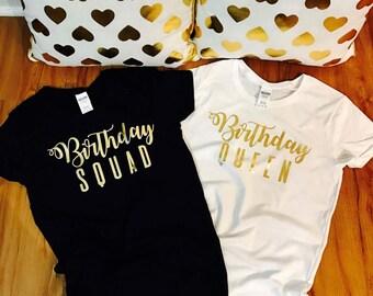 Birthday shirt women, birthday squad shirt, birthday squad, squad goals, birthday t shirt set, birthday t shirts, for her birthday shirt