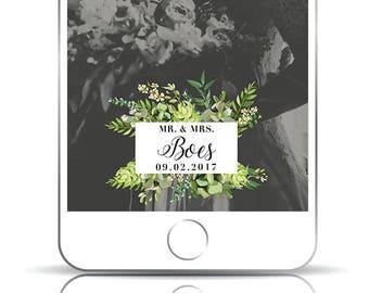 Rustic Wedding Snapchat Filter, Wedding Snapchat Filter, Custom Filter, Mr and Mrs Snapchat filter, Just Married Snapchat Filter, Geofilter