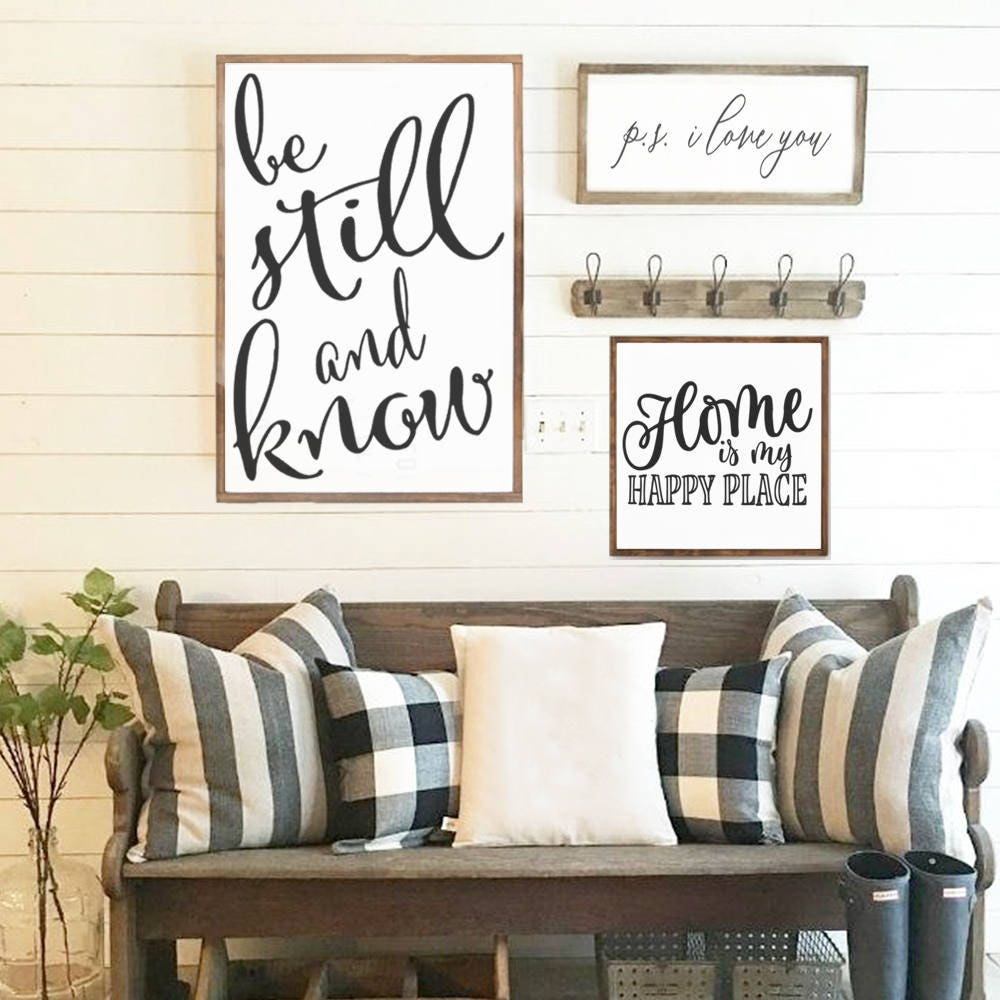 Home is My Happy Place Wood Sign - Home Decor - Wood Signs ...