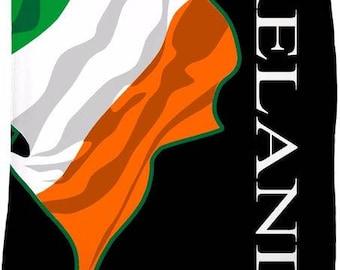 Ireland Custom Flag Fleece Blanket
