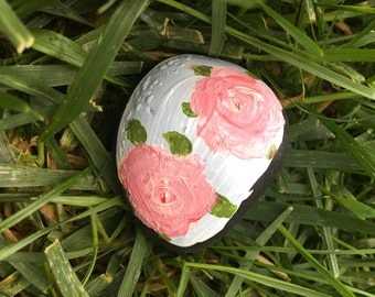 Painted Rock: Pink Roses