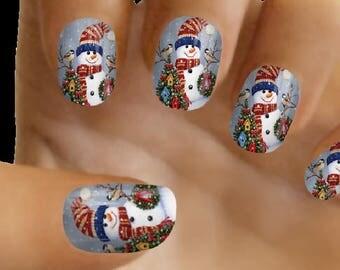 Christmas nail art | Etsy