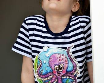 Kids tshirt - Octopus Milka
