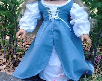 Renaissance Girl doll dress for 18'' dolls