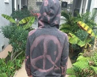 Custom Bleach dye hoodie