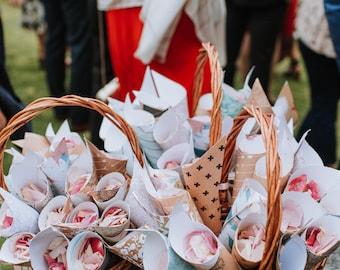 Cones for Confetti or Rose Petals   40 Pack