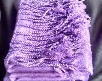 Purple wool scarf / wrap