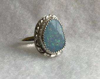 Triplet Opal Ring