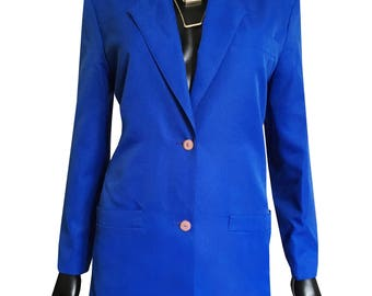 Electric blue fitted jacket
