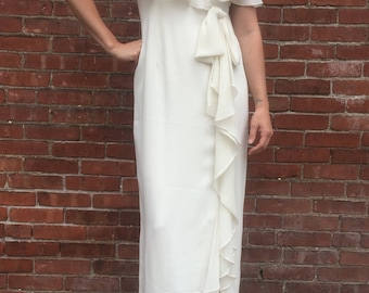 1970s Vintage Wedding Dress Garden Party Dress