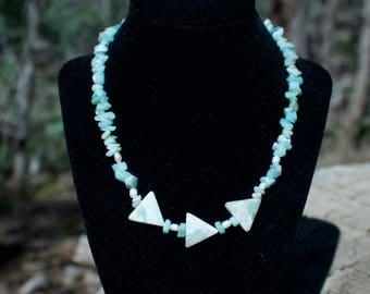Amazonite & Pearl Necklace