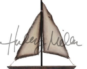 Instant Download!  Sailboat Boat Digital Overlay PSD File Transparent Photography Prop