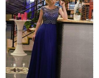 Romantic Royal Blue Dress