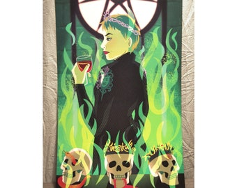 Cersei Lannister Wildfire Poster/Art Print - Game of Thrones Fanart