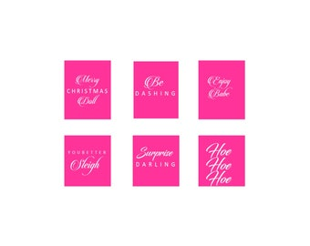 Holiday Gift Tags - Pink Themed