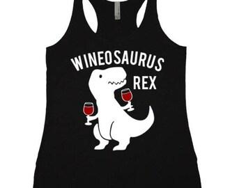 Wineosaurus Rex TRi-Blend Racerback Tank Top