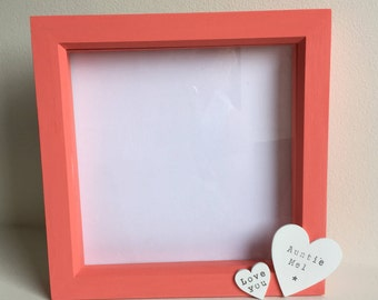 Personalised photo box frame