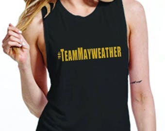 Black & Gold Womens Team Mayweather muscle tank - McGregor v Mayweather - Choose your side