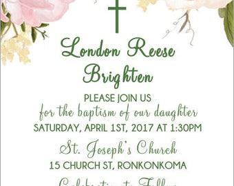 Baptism Invitation 5x7