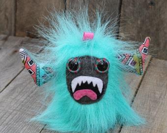 Stuffed monster, stuffed animal, monster, key chain plush, plush, plush key chain, monster plush