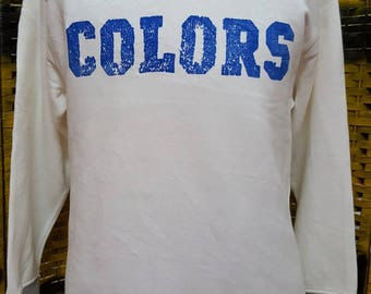 Vintage UNITED COLORS of BENETTON / big logo spell out / Large size sweatshirt
