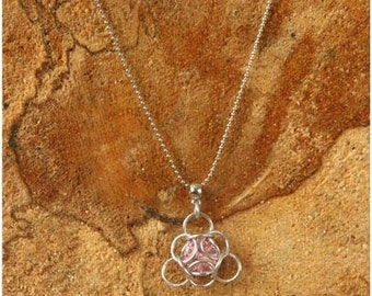 Chain maille necklace pendant/Chain maille necklace pendant
