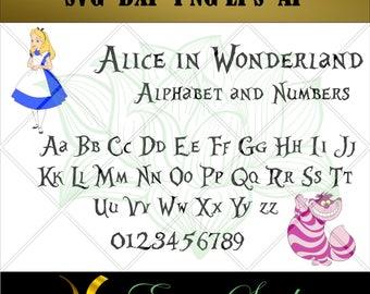 Alice in Wonderland svg, Studio font, files for cricut,svg files,Cricut Downloads, Digital Download, Instant Download