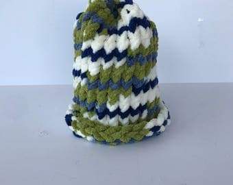 Green/Blue Marble Baby hat
