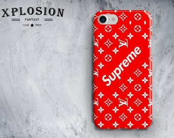 Red Supreme iPhone 6 Case iPhone 7 Case iPhone 6s Plus Case iPhone SE Case iPhone X Cover Supreme Phone Case Supreme Case iPhone
