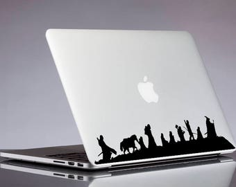 Lord of the rings decal; Fellowship sticker for laptop, macbook, car, notebook, tablet, phone, mac