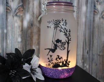 Fairy Jar,Night Light,Fairy Lights,Fairy Lantern,Fairy Decal,Home Decor,Wedding Decor,girls Gift,