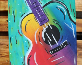 Guitar Canvas Painting