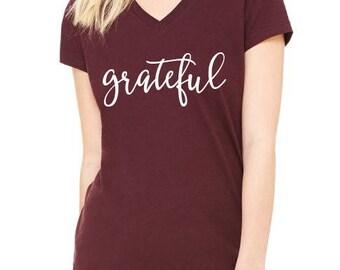 Grateful, Thanksgiving Shirt, Fall Shirt, Grateful, Blessed Shirt, Pumpkin, Grateful, B