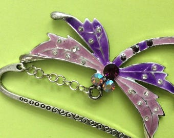 Dragonfly bookmark Book lover gift, bookday gift, , reading gift,