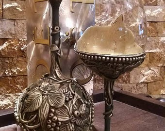 Original Wine Glasses, Handmade Toasting Glasses , Special Gift , Couple Gift