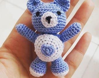 Amigurumi Bear - Little amigurumi teddy bear - Stuffed Animal - Plushie - Keychain