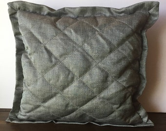 Gray Shimmer Quilted Pillow Cover  21x20