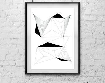 Physical Print ///  Geometric Art 3