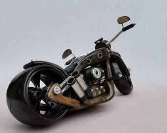 wooden and metal motorcycle