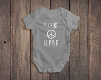 Future Hippie Baby Onesie // Baby Bodysuit // Baby Clothes // Baby Clothing // Baby Gift // Baby Shower Gift // Coming Home Outfit Onesie