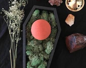 Blood Moon Rising bath bomb - blood orange grapefruit scented